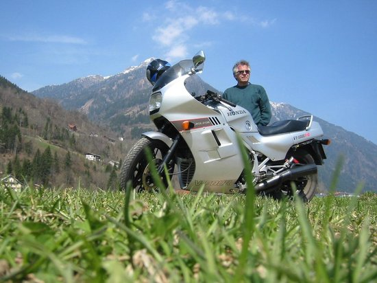 Altes Pfarrhaus: paragliding or motorcycle...so many decisions