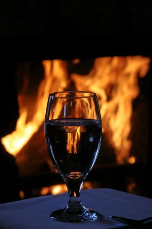 The Bistro at Marshdale: Cheery fire with a glass of wine