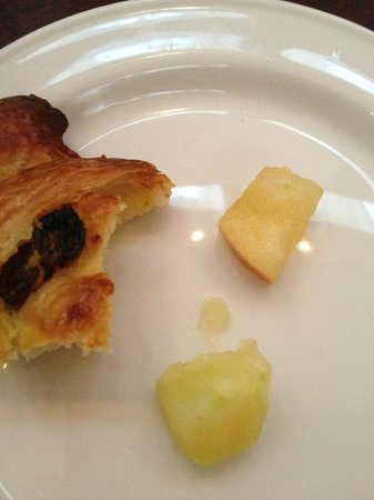 The Morrison, a DoubleTree by Hilton Hotel:                   Breakfast: less than fresh patisserie and squidgy apple that had been in the f