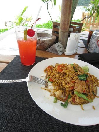 Mai Samui Resort & Spa:                   One of the 150BHT lunch stir fries, value for money!