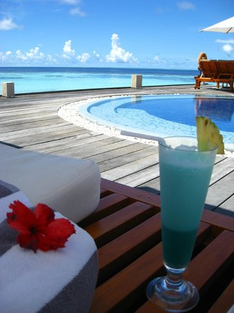 Lily Beach Resort & Spa:                                     blue cocktail