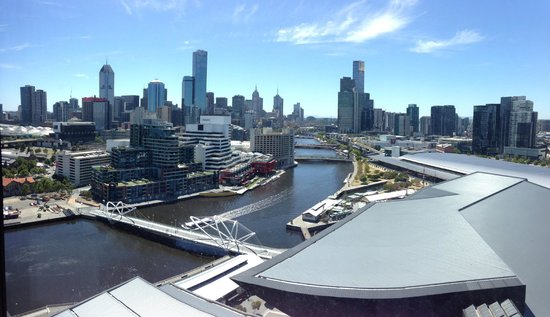 Pan Pacific Melbourne:                   View from 1618