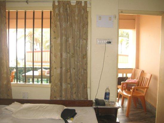 Hotel Sea Hawk :                   bedroom window opening to the balcony