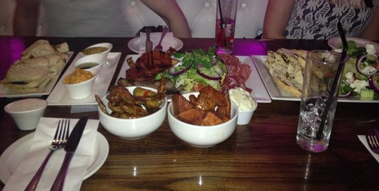 Claytons and The Glasshouse:                   Tapas and platters - delicious!