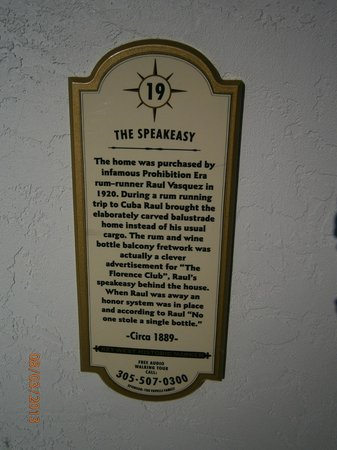 Speakeasy Inn:                   The History