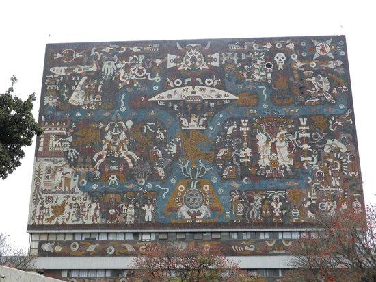 Ciudad Universitaria:                                     Université, bibliothèque, détail