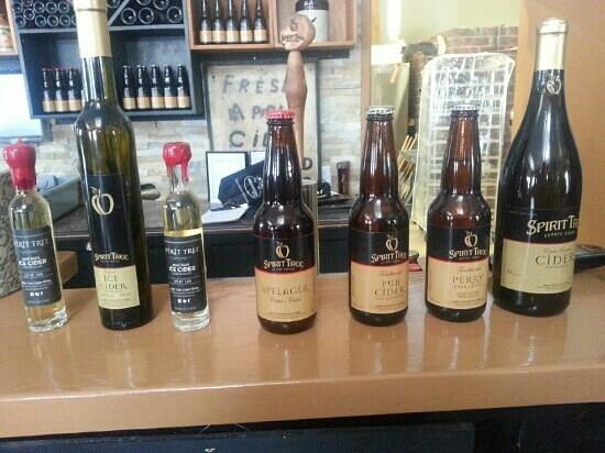 Spirit Tree Estate Cidery:                   various ciders