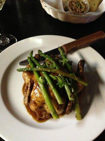 The Spicy Green Bean : Hen Hennesey-stuffed Cornish Hen