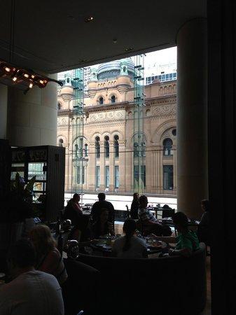 Hilton Sydney:                   QVB from Restaurant
