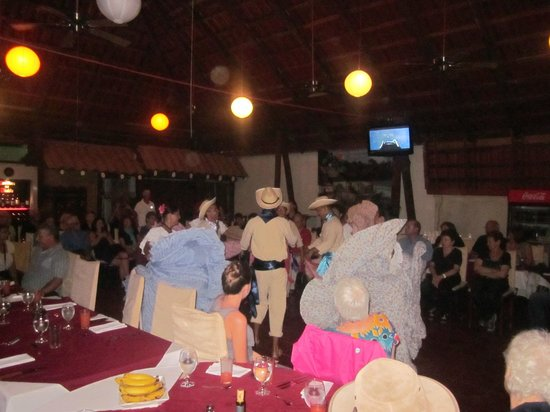 Hotel San Bada:                   performers at dinner. not a nightly event, but nice local show