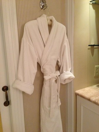 Monarch Beach Resort:                   lovely bathrobe