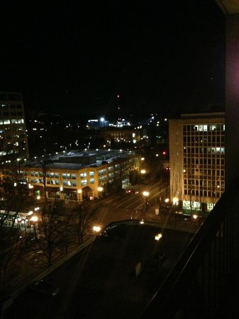 DoubleTree by Hilton Hotel Portland:                   Evening view from balcony.