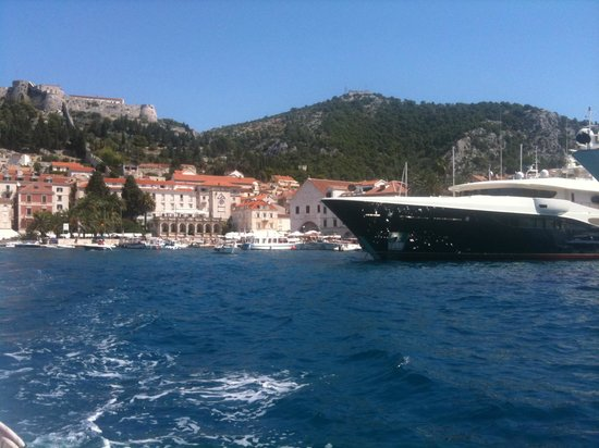 The Palace Hvar Hotel: On the water taxi back to Palace Hotel