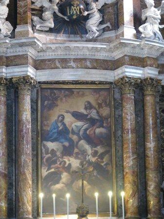 Chiesa di Gesu e Maria:                                                       Main altar