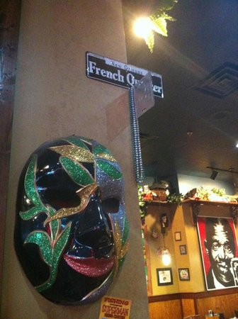 Mardi Gras Mask Wall Decor - Picture of Jazz A Louisiana Kitchen ...