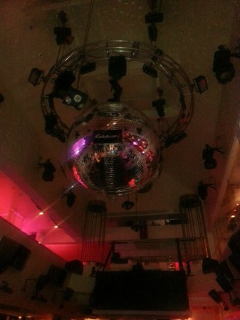Cut: Night Club Photo. Told it was 2nd largest disco ball in the
