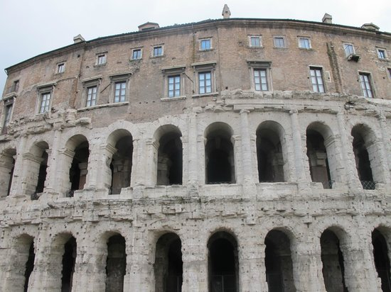 Theater of Marcellus - one of the apartments built on the ...