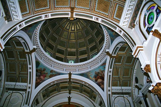 Saint Leonard of Port Maurice:                   The dome viewed from inside the chapel.