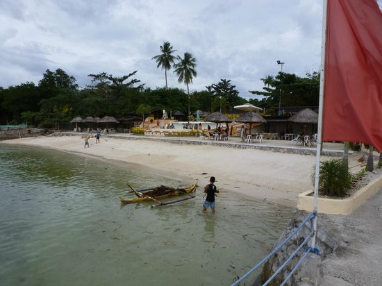 BlueJaz Water Park: View from the dock to north