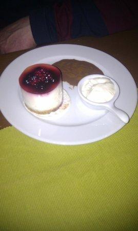 The Gresham:                   Blackcurrant Cheesecake