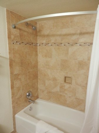 The D Casino Hotel Las Vegas: retiled shower