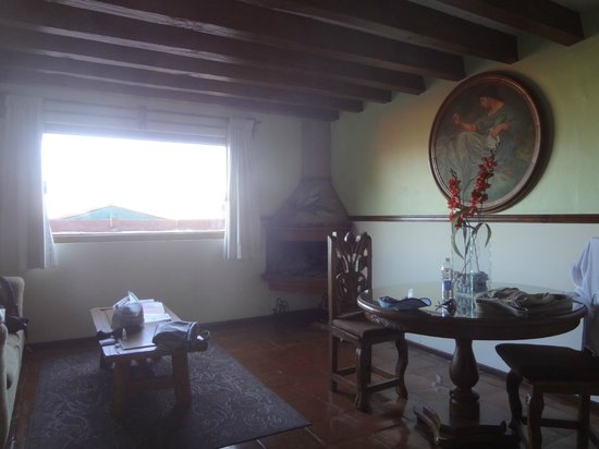 Villa San Jose Hotel & Suites:                   Fireplace in the suite