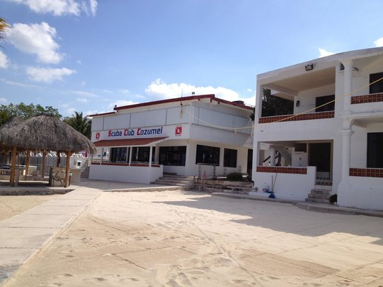 Scuba Club Cozumel:                   Front of dining room