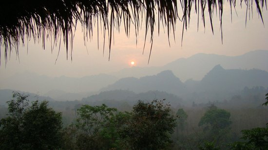 Zen Namkhan Boutique Resort:                   sunrise view from