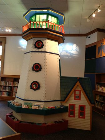 Milwaukee Public Library:                   lighthouse in children's section- climb upstairs!