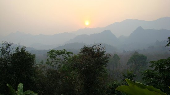 Zen Namkhan Boutique Resort:                   sunrise view from balcony