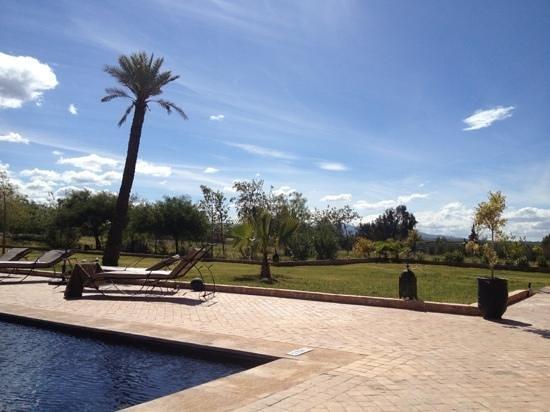 Kasbah Caracalla:                   piscine et terrasse de l'hôtel