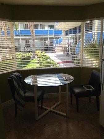 Canyon Club Hotel:                   Room 118, breakfast nook