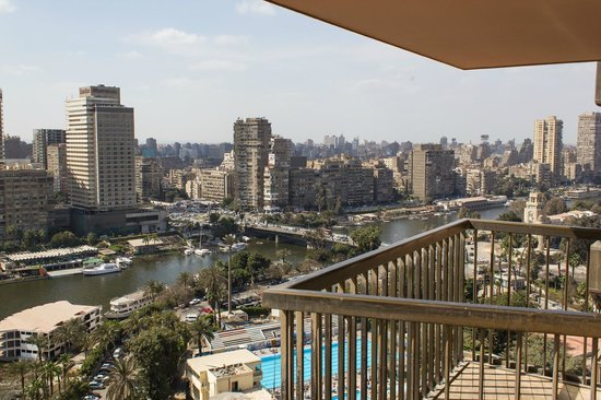 Sofitel Cairo El Gezirah: View to the right from my balcony