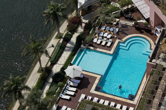 Sofitel Cairo El Gezirah: The pool from above