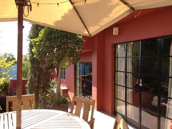 Casa Cinco Patios:                   Breakfast patio.