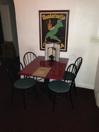Clusters & Hops: small side dining area