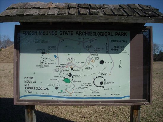 Pinson Mounds State Park: park map