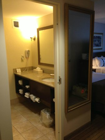 Holiday Inn Johnstown - Gloversville: Big granite counter, nice amenites and shower.  CLEAN