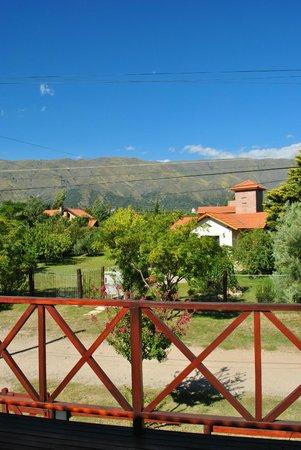 Posada de las Sierras:                   Vista desde el cuarto.