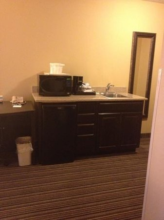 Holiday Inn Express Hotel & Suites Council Bluffs: mini bar in room