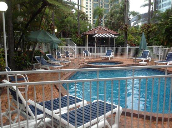 Copacabana Apartments Gold Coast:                   the beautiful outdoor pool