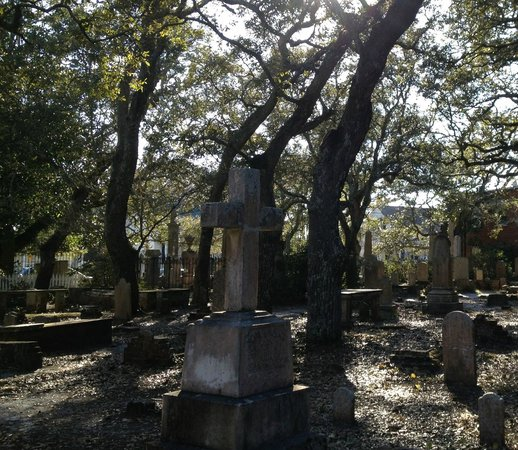 Beaufort Historic Site Old Burying Ground:                   chaotic