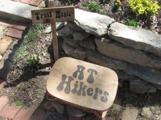 Appalachian Trail Conservancy Headquarters:                   Hiker box outside the ATC