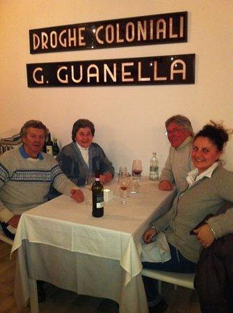 Enoteca Guanella :                   Bob, Maggie, Bill and Sarah enjoying dinner