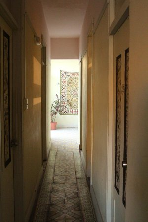 The Palace Hostel :                   Hall way to kitchen