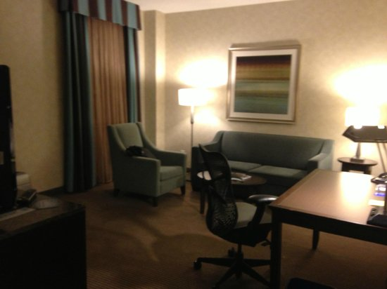 Hilton Garden Inn Toronto City Centre: Living Room was nice