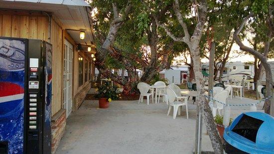 Knights Key RV Resort & Marina:                   Outside seating at restaurant