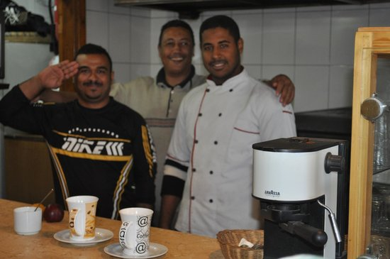Deans Bistro :                   The Egyptian team - cooking and serving at Deans