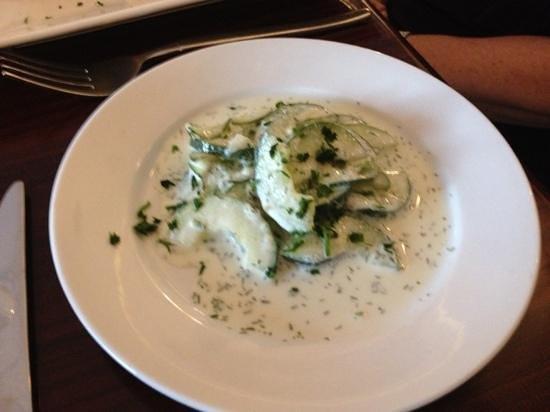 Schnitzel Kitchen: the cucumber salad