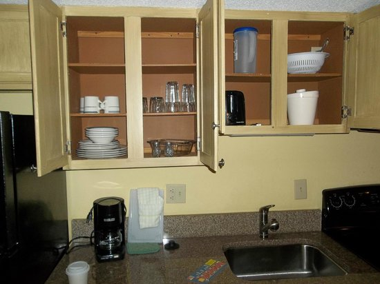 Park Lane Hotel and Suites:                   Inside cabinets